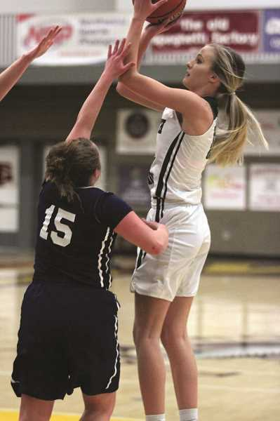 PMG PHOTO: PHIL HAWKINS - North Marion junior Katie Ensign led the Huskies with 14.7 points per game and a tournament-best nine 3-pointers.
