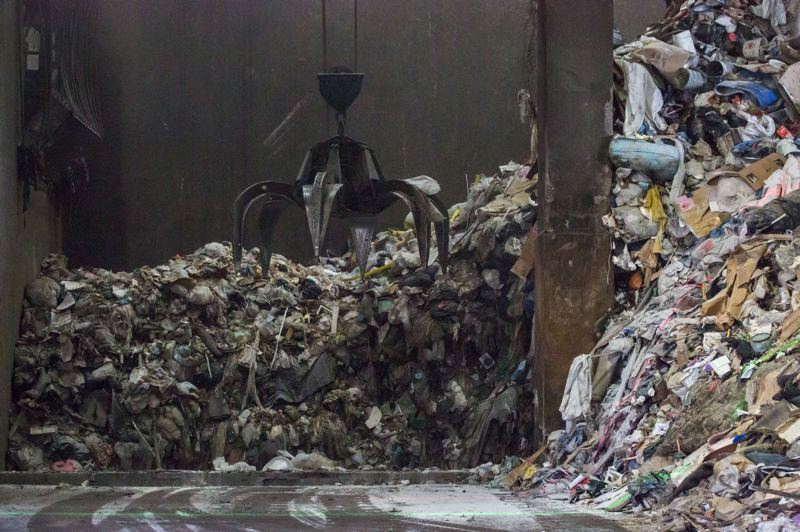 PMG FILE PHOTO - Garbage, including some plastic, is hauled to an incinerator at the Brooks Coventa plant east of Interstate 5.