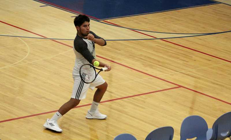 STEELE HAUGEN - Tony Giron made it to state playing doubles, but will look to make state this year playing singles.