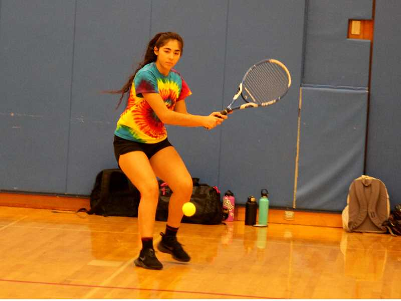 STEELE HAUGEN - Senior Erika Olivera is looking to go back to state with doubles partner Jessica Olivera.