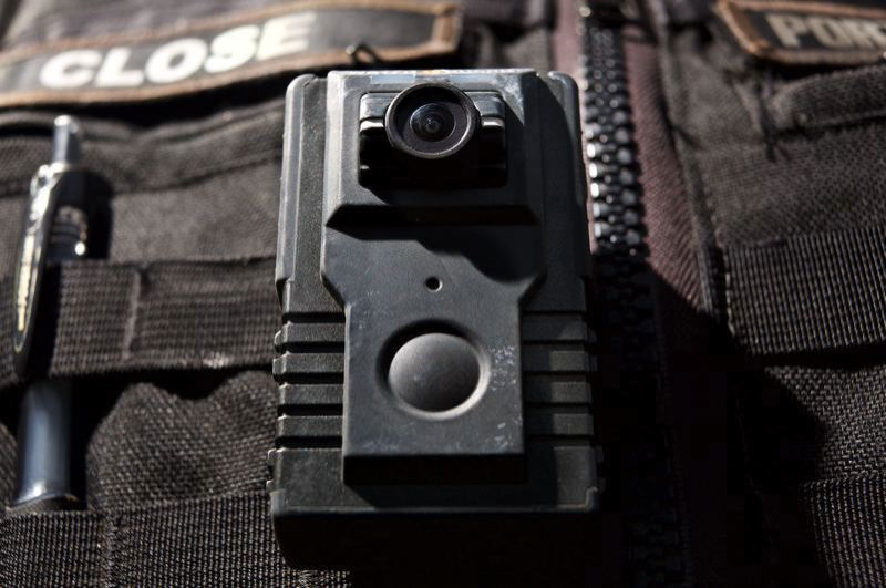 PORTLAND TRIBUNE FILE PHOTO - An example of a body camera worn by police.