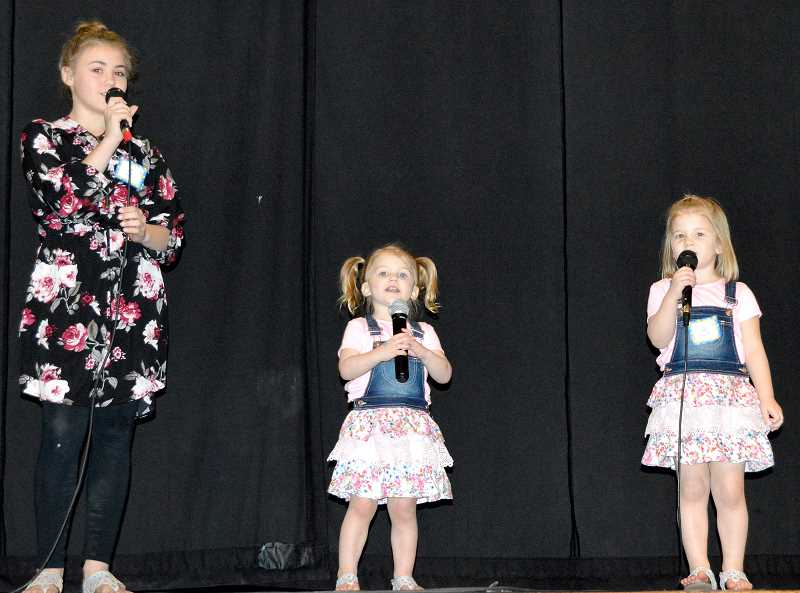 CINDY FAMA - Anastaysja Pewitt, Arizona Jackson and Avalyn Jackson sing 'Happier'.