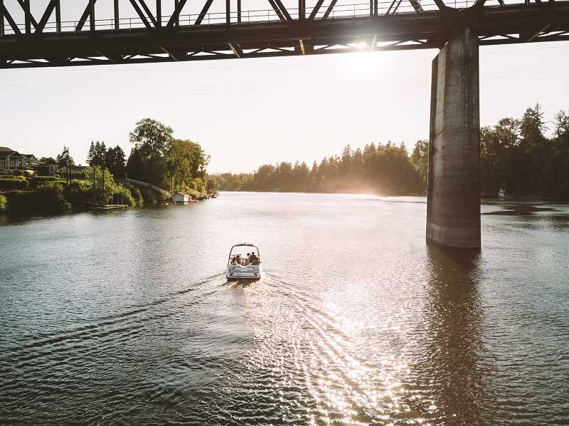 COURTESY PHOTO: ADAM MCKIBBEN/EXPLORE WILSONVILLE - Floating down the Willamette River is another tourist option in Wilsonville.