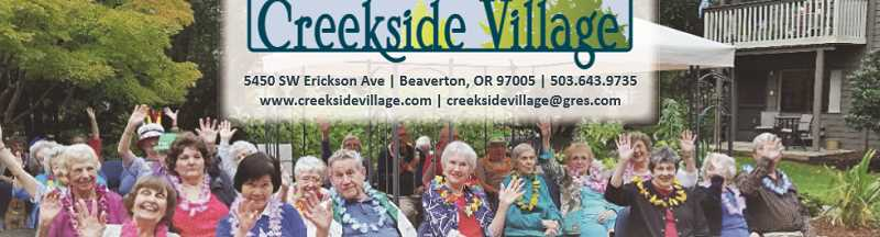 (Image is Clickable Link) More than just a retirement center, Creekside Village is a community