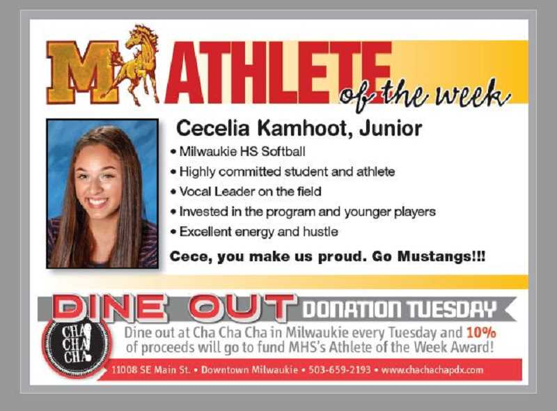 (Image is Clickable Link) Milwaukie HS Athlete of the Week