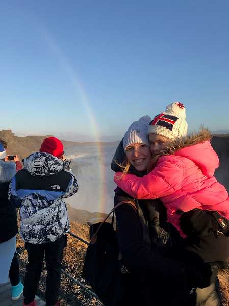 This photo was taken during OMaras trip with a family to Iceland. Nannies and babysitters booked through The Sitter Setter can do a variety of tasks, traveling with families included.