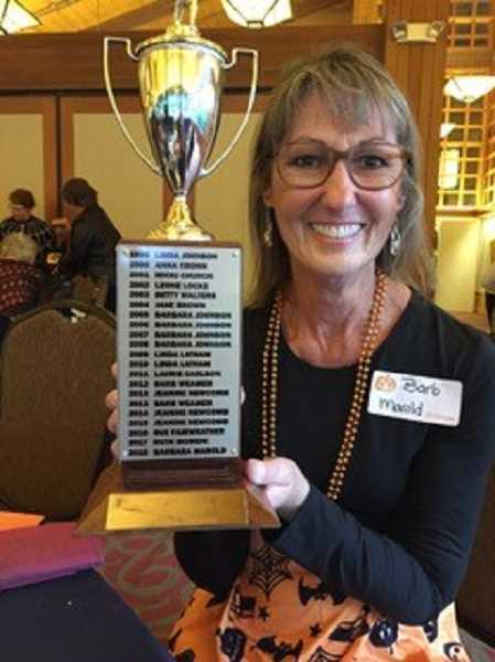 SUBMITTED PHOTO  - West Linn resident Barbara Marold was the 2018 Lake Oswego Ladies Golf Club 2018 champion.