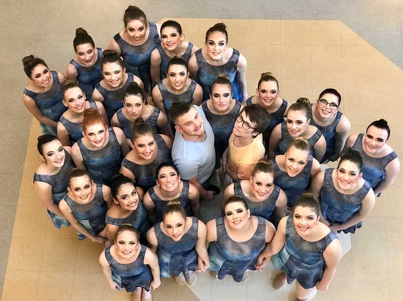 COURTESY PHOTO: JENNIFER CHAFFEE - The 2019 Canby Cougar Dance Team is pictured here in their costumes for 'Together. Alone.'