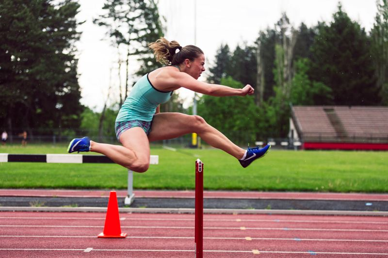 COURTESY: FLETCHER WOLD/THE ADVOCATE - Janna Vander Meulen, 28, of Portland, has been preparing for the first World Deaf Indoor Athletics Championships this week at Tallinn, Estonia.