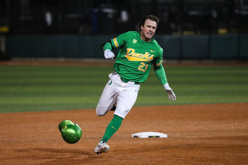 COURTESY: ERIC EVANS, UNIVERSITY OF OREGON - Returning starter Jakob Goldfarb is the lone senior on this year's Oregon Ducks baseball team.