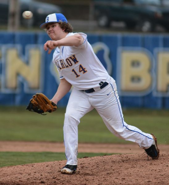 PMG PHOTO: DAVID BALL - Barlow reliever Carson Jensen struck out three while throwing the final two innings.