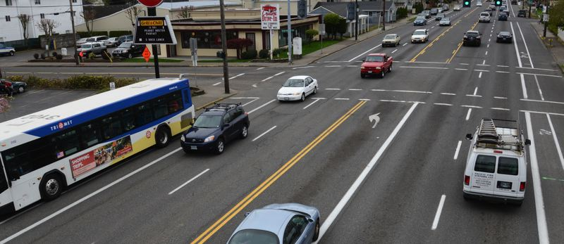 COURTESY METRO - An example of the dangerous major streets to cross in East Portland.