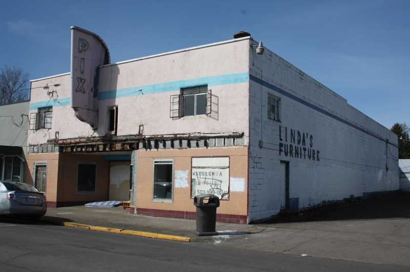 PMG PHOTO: JUSTIN MUCH - Demolition of the former theater will coincide with Woodburns First Street Improvement Project.