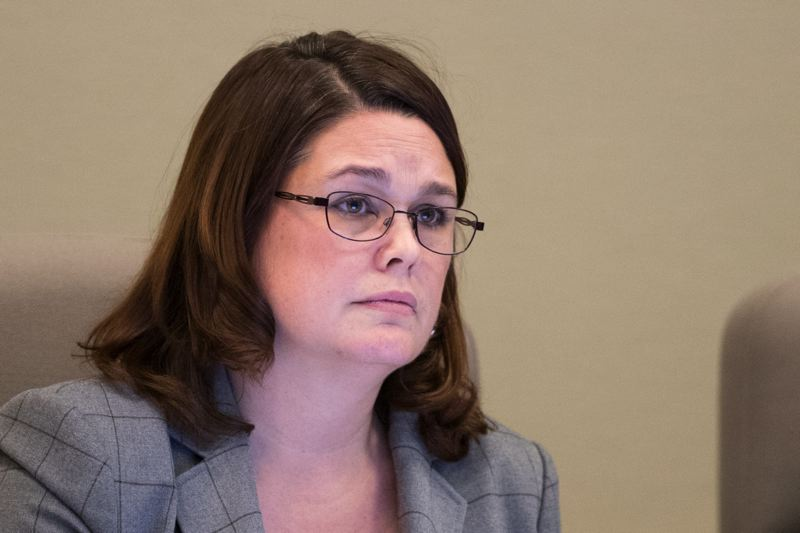 PMG FILE PHOTO - State Sen. Sara Gelser of Corvallis called on senators to approve a resolution supporting victims of sexual harassment in the state Capitol.