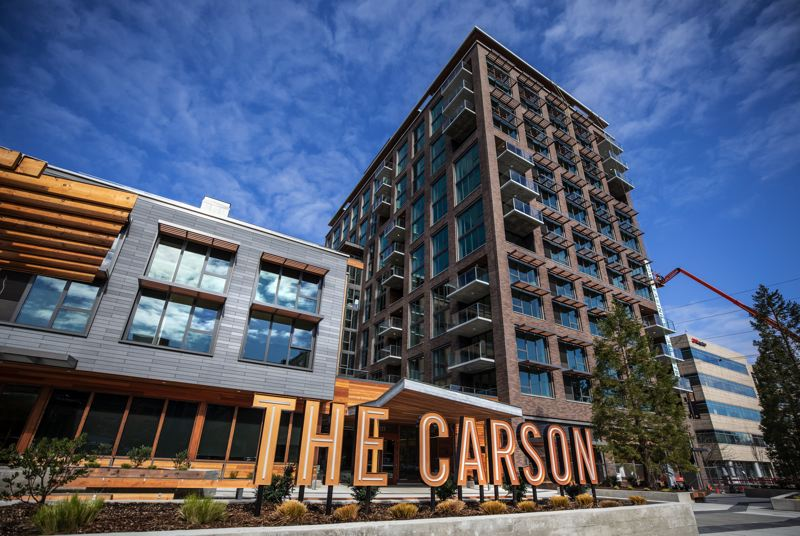 PAMPLIN MEDIA GROUP: JONATHAN HOUSE - The Carson North apartments at Northwest 21st and Savier in Slabtown is the latest market-rate building to open in the old Con-way freight space.