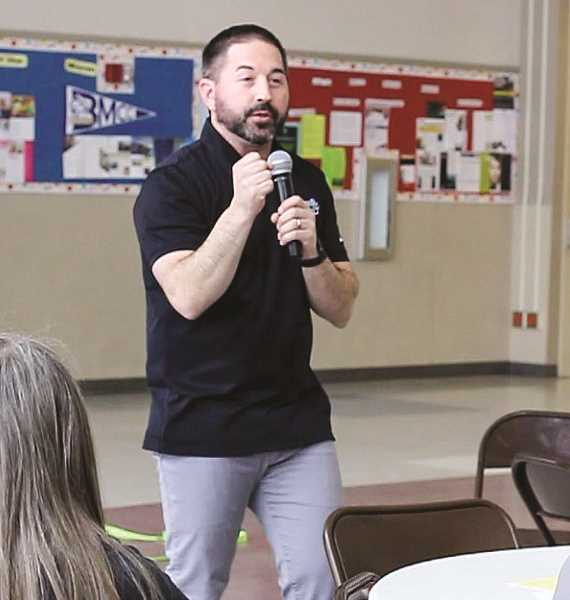 PHOTO COURTESY OF GRAYSON MUNN AND JAKE HUFFMAN   - John Norlin, who developed the CharacterStrong curriculum, led the workshop at CCHS.