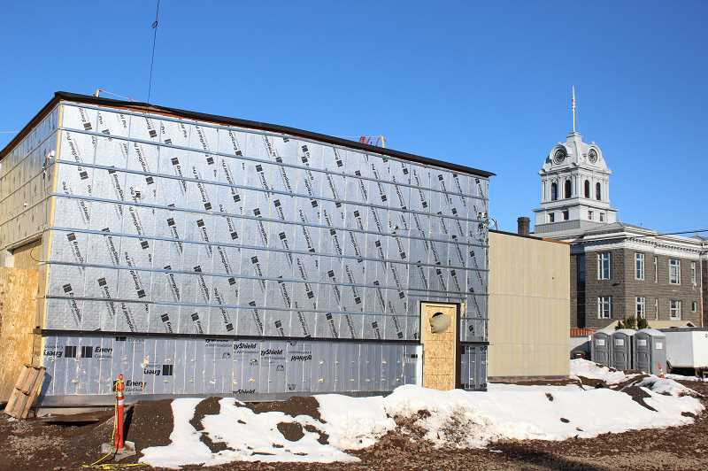 JASON CHANEY - Construction on the new Crook County Jail is still on schedule to conclude at the end of April, despite recent snowstorms that slowed down work on the facility.