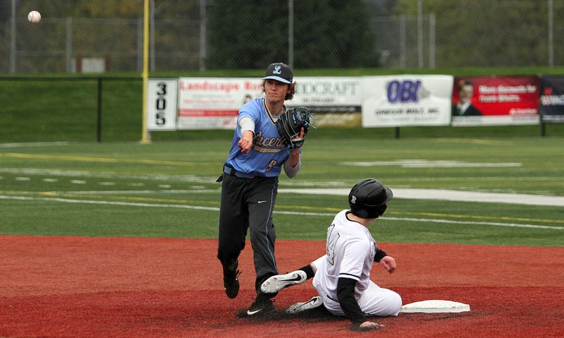 PMG PHOTO: MILES VANCE - Lakeridge senior Hayden Moore and the Pacers are hoping to show improvement in the ever-tough Three RIvers League during the 2019 season.