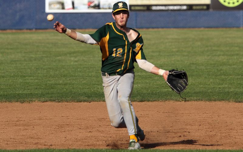 PMG PHOTO: MILES VANCE - West Linn senior shortstop and pitcher Jonathon Kelly and the Lions have less experience in 2019 than in years past, but still think they'll compete among the TRL's best teams.
