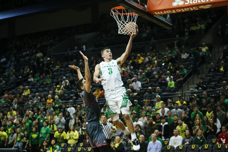 COURTESY: SAM MARSHALL, OREGON ATHLETIC COMMUNICATIONS - Payton Pritchard's play and leadership sparked the Oregon Ducks to the late-season win streak and Pac-12 tournament blitz that got UO back into the NCAA Tournament.