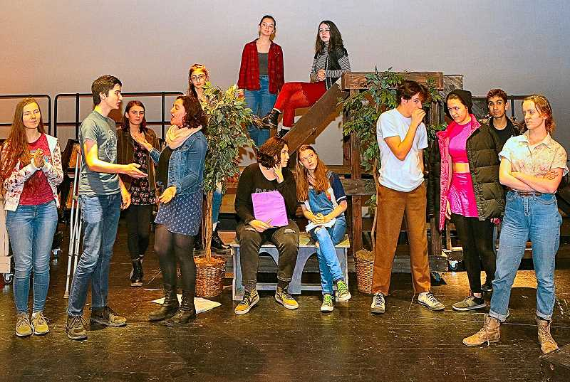 DAVID F. ASHTON - From the upcoming production of Much Ado About Nothing, Cleveland Highs Company of Warriors theater troupe rehearses the Big Party scene, where romance and trickery abound.