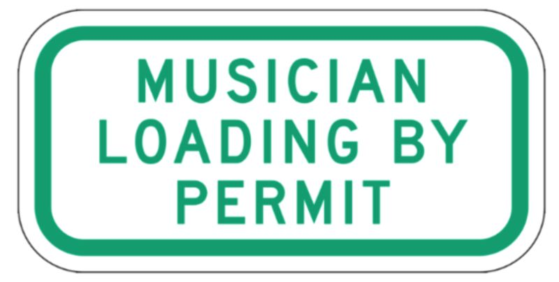 COURTESY PBOT - The Portland Bureau of Transportation says a new free permit will offer access to Musician Loading Zones outside 16 venues across the Rose City.