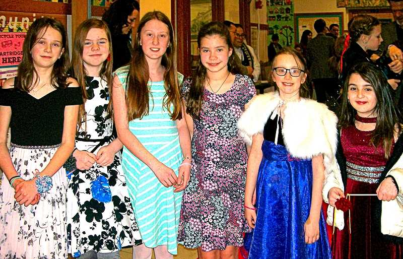 RITA A. LEONARD - All dressed up for the ball were Madeline, Molly, Adeline, Eliana, Mathilda, and Hazel.