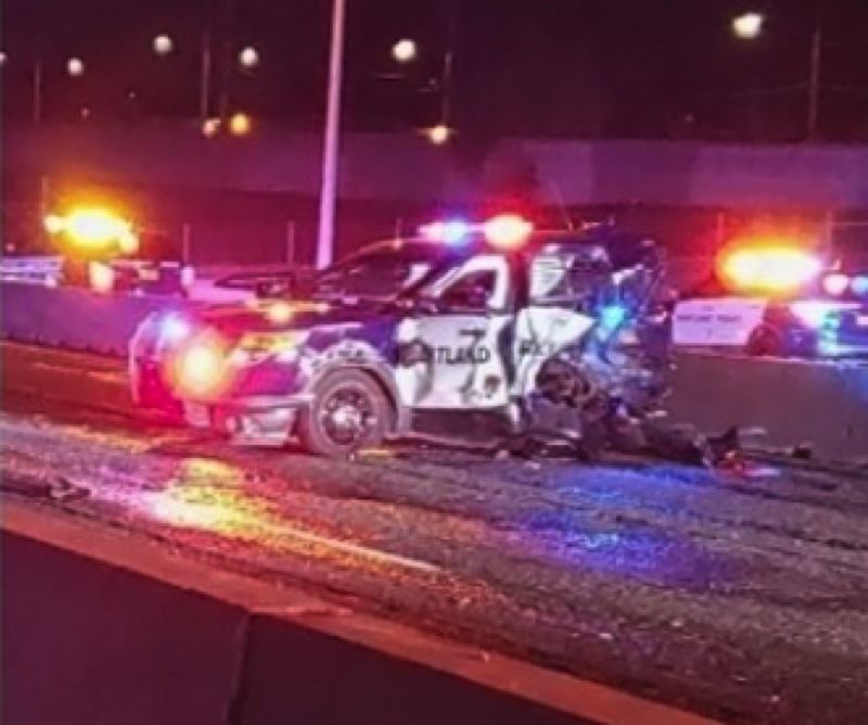 KOIN 6 NEWS - The patrol vehicle that was hot on I-205