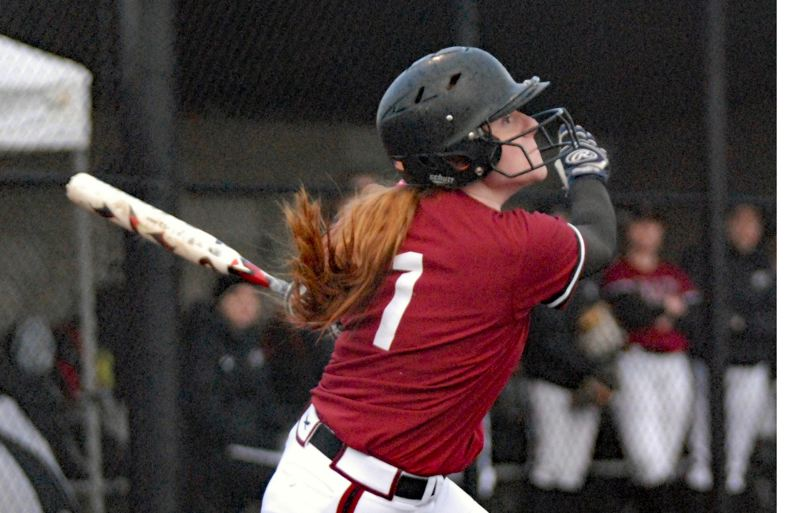 FILE PHOTO - Katie Bruner makes contact at the plate for a Sandy squad that reached the 5A playoffs last season.