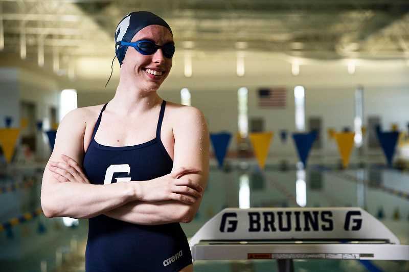 PHOTO COURTESY OF GFU - Sophomore Aspen Monkhouse will be the GFU swim program's first-ever representative at the Division III NCAA championships on Wednesday. She will compete in the women's 50-yard free, with trials starting around 7 a.m. and finals beginning at 3 p.m.
