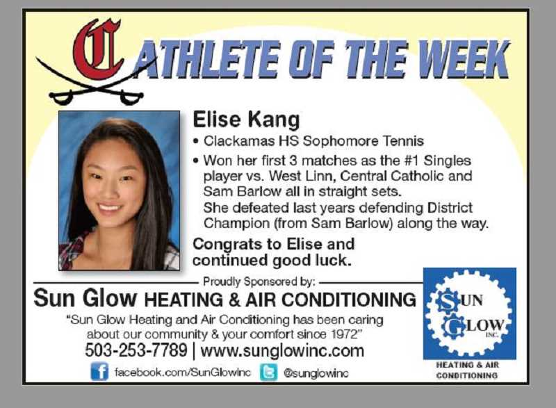 (Image is Clickable Link) Clackamas High School Athlete of the Week - Sponsored by Sun Glow