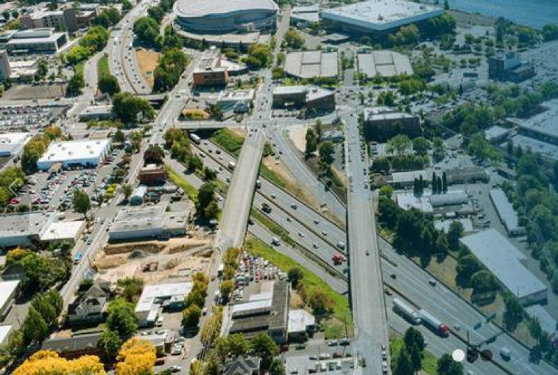 COURTESY ODOT - An aerial view of the location for the proposed I-5 Rose Quarter Improvement Project.