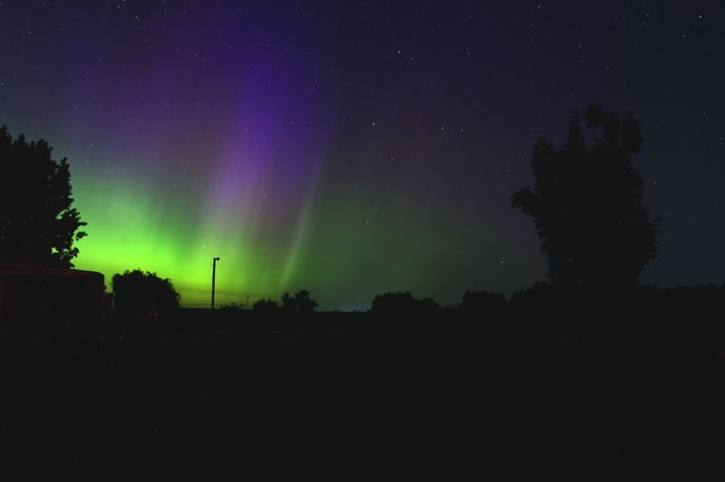 COURTESY PHOTO: PAT HANRAHAN  - Aurora Borealis seen from Hanford, Wash., on May 28, 2017, as observed by Mt. Hood Community College Planetairum Director Pat Hanrahan.