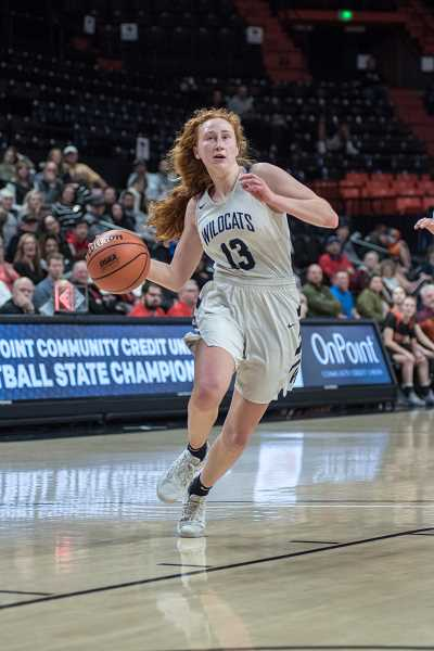 COURTESY PHOTO: GREG ARTMAN - Wilsonville sophomore Sydney Burns was a consistent source of energy for the girls team this season, leading them to a league title.