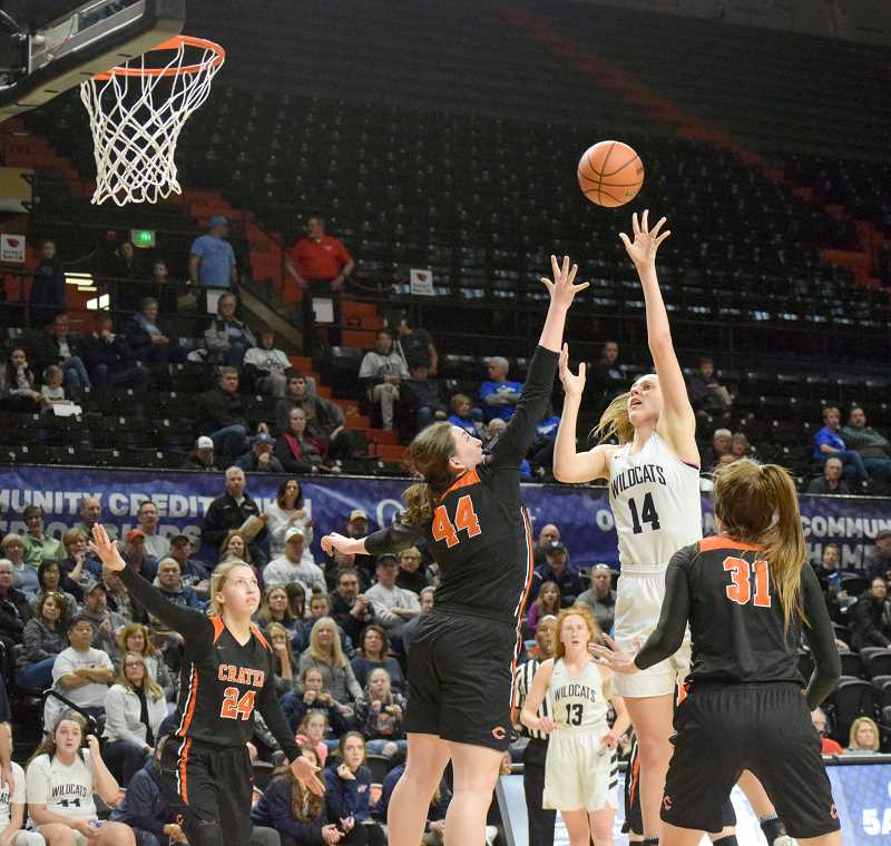 PMG FILE PHOTO: TANNER RUS - Sophomore Emilia Bishop was one of the breakout stars of the 2018-19 season for Wilsonville.