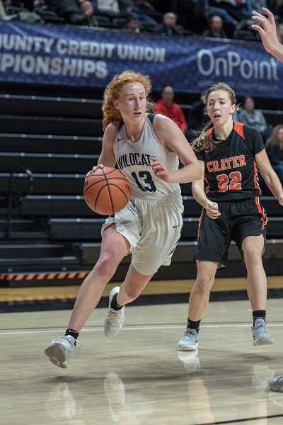 COURTESY PHOTO: GREG ARTMAN - Sydney Burns established herself as one of the premier talents at 5A, constantly pushing the pace and elevating the teams play.
