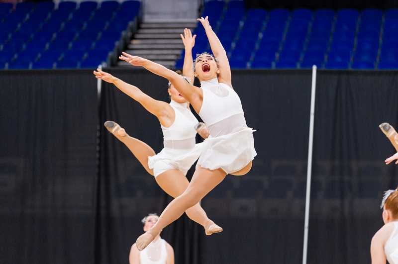 PMG PHOTOS: JOHN LARIVIERE - Wilsonvilles dance team took 7th place in the state championship last weekend, with Pendleton taking the top spot.