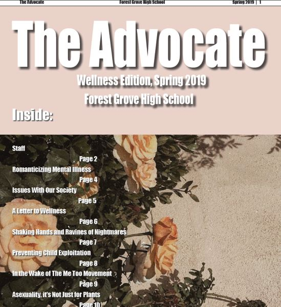 (Image is Clickable Link) The Advocate 2019 -  Forest Grove High School