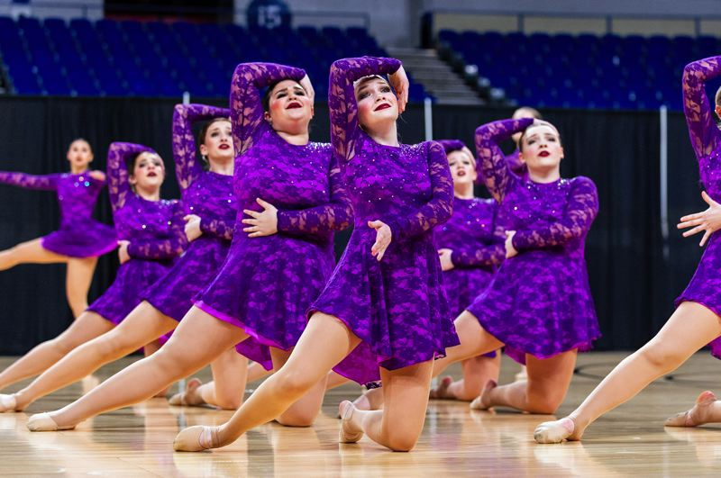PMG PHOTOS: JOHN LARIVIERE - Dancers from Sherwood High School take to the floor for the state tourney.