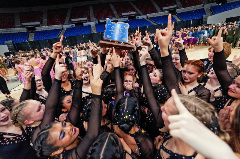 PMG PHOTO: JOHN LARIVIERE - Tigard High School took home top honors at the OSAA Dance and Drill state tournament.