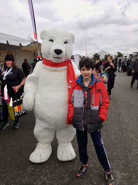 COURTESY PHOTO - Unified Club member and LOJ sixth-grader Ethan Sayer at this years Polar Plunge.