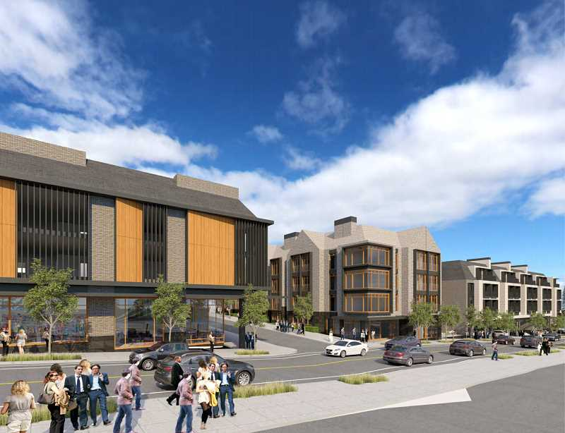 COURTESY PHOTO: CITY OF LAKE OSWEGO - Approximately 16,000 square feet of retail would be installed around the 162-space parking garage across from the main building.
