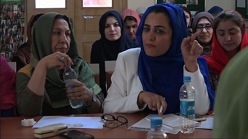 COURTESY PHOTO - The documentary movie 'Facing the Dragon' features two Afghan women who work to better their country — (above) Nilofar, a parliament representative, and Shakila, a journalist (in photo below). It's by Sedika Mojadidi and screens at Clinton Street Theater as part of Portland Oregon Women's Film Festival.
