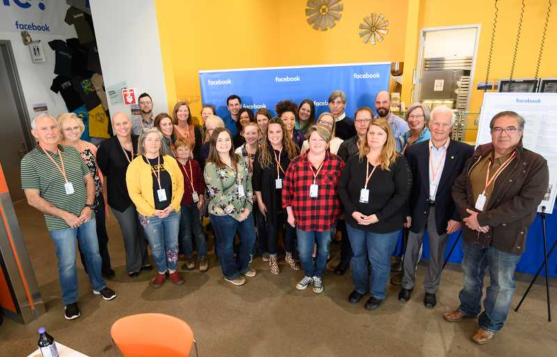 PHOTO COURTESY OF FACEBOOK - Facebook Prineville Data Center Local Community Action Grant recipients attended a reception at the data center Wednesday afternoon. Grants totaled $210,000.