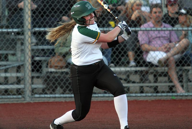 PMG PHOTO: MILES VANCE - West Linn junior infielder Lexie Grein is one of four returning all-league players who will help the Lions chase another state playoff berth.