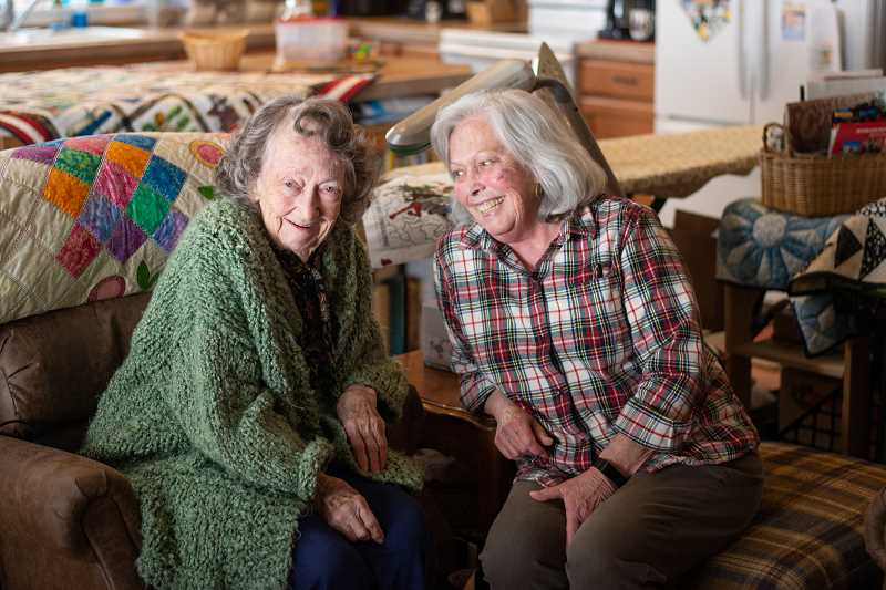 PMG PHOTO: ANNA DEL SAVIO - Phyllis and Aleta Wildenstein have lived together in St. Helens for nearly two decades. .