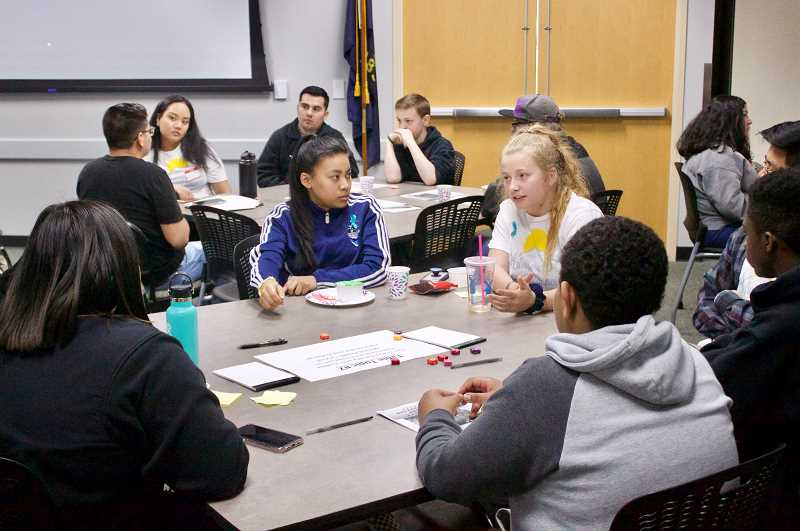 PMG PHOTO: CHRISTOPHER KEIZUR - Local high schoolers discussed mental health and sexual harassment during the Gresham Youth Summit.