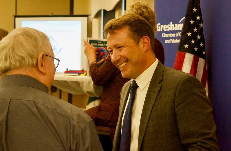 PMG PHOTO: CHRISTOPHER KEIZUR - Bemis top goals for Gresham this year are safe communities, opportunities and livability, and sustainable services.