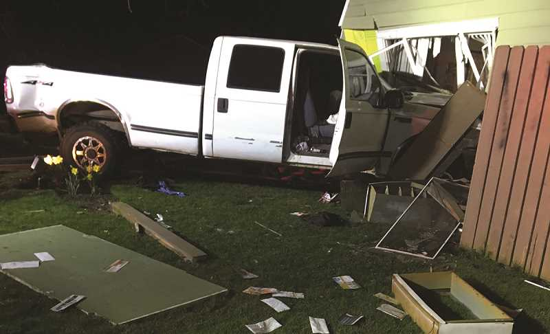 COURTESY PHOTO: WOODBURN POLICE DEPARTMENT - Bartolo Hernandez Godinez crashed a 1999 Ford pickup truck into the ground floor of an apartment complex on Gatch Street at 1 a.m. on Friday, nearly striking a sleeping resident.