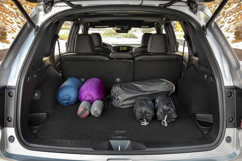 HONDA NORTH AMERICA - The 2019 Honda Passport offers a lot of cargo space behind the second row of seats, and even more with them folded down.